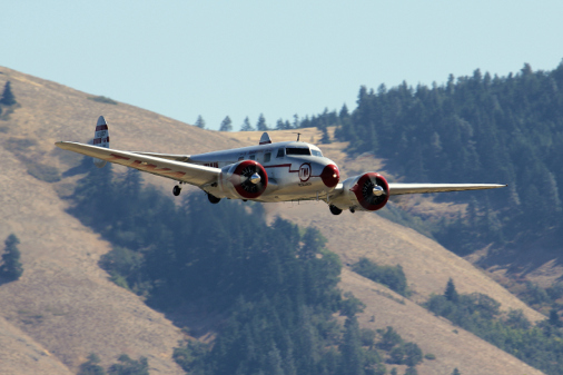 Lockheed low pass over Hood River Airport