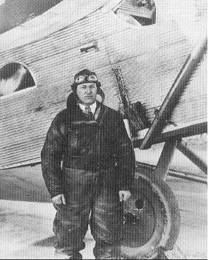 Larry Fritz in typical flight gear