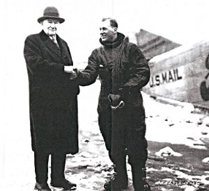 Harry S. New, US Postmaster General & pilot Larry Fritz