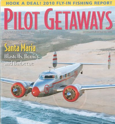 NC18137 Makes the cover of Pilot Getaways Magazine.