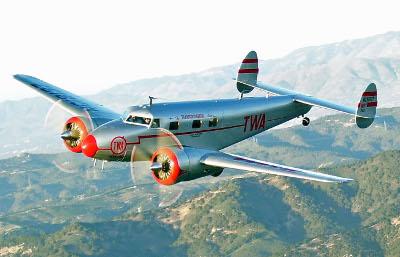 Lockheed 12 NC18137 over Avila Beach